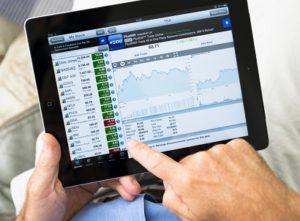 trading online tablet