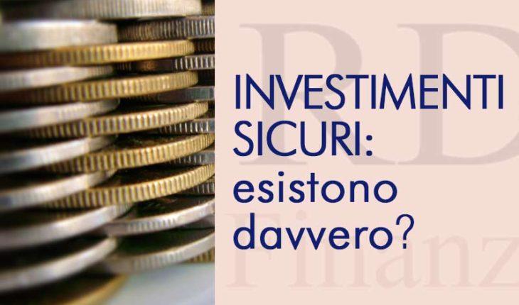 Investimenti sicuri guadagnare a basso rischio nel 2016