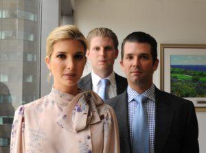 Donald Jr., Ivanka ed Eric