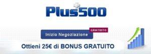 Plus500 Forex Bonus Investire 1000 euro